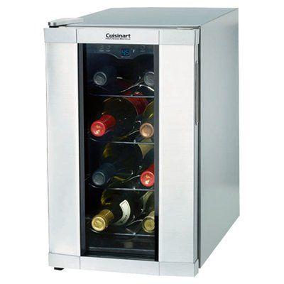 Cuisinart Cuisinart 8 Bottle Reserve Series Single Zone Freestanding Wine Cooler Wine Refrigerator Italian Wine Wine