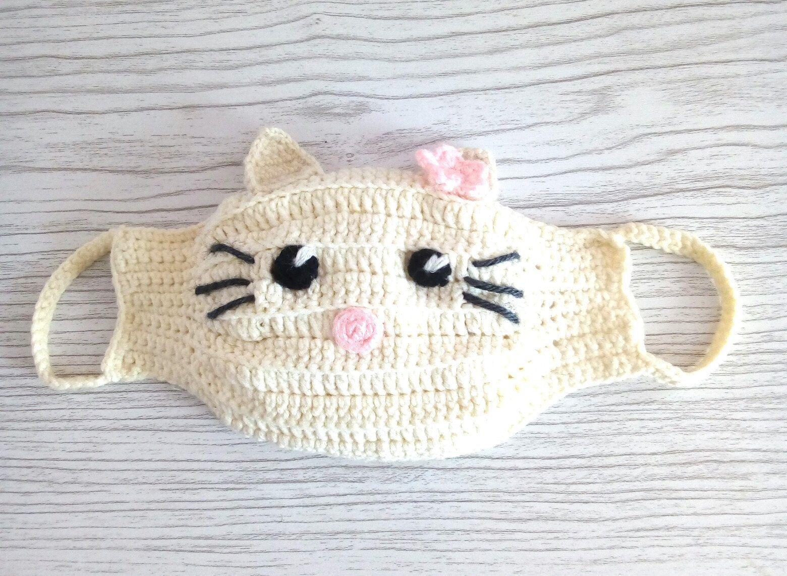 PATTERN. Crochet mask. Detailed description.Knitted mask for children.  #children #crochet #description #detailed #DIYchildrenMask #knitted #pattern