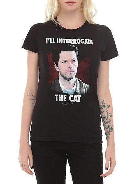 13a381e26a99 Supernatural Interrogate The Cat Girls T-Shirt