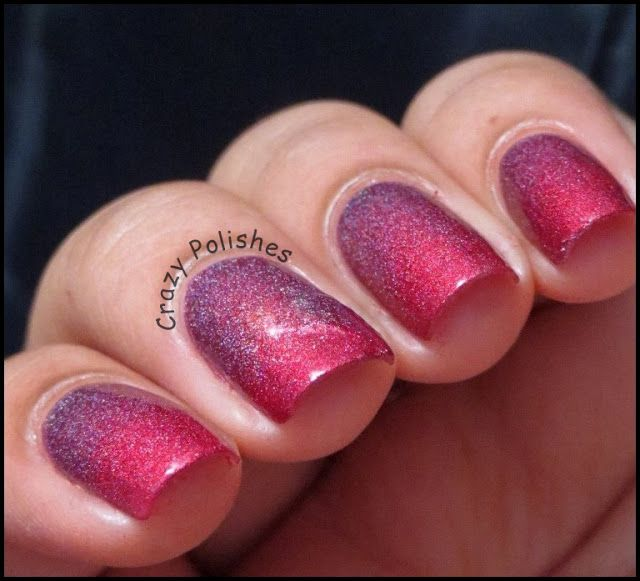 Gradient manicure with a-england Briar Rose and Rose Bower from Burne-Jones Dream Collection by crazypolishes.com