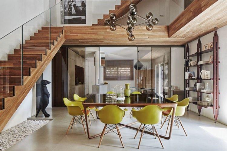 essbereich quadratischer tisch treppe glas schiebet ren k che tisch pinterest quadratische. Black Bedroom Furniture Sets. Home Design Ideas