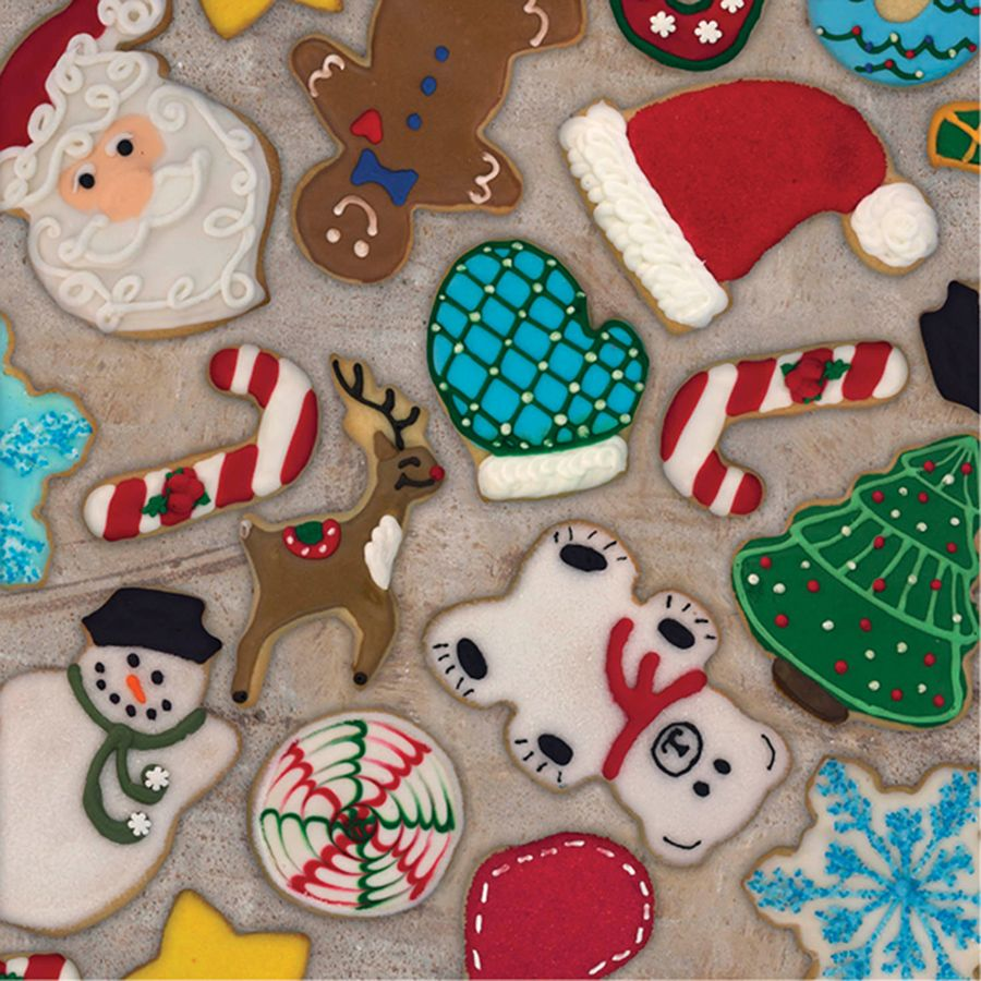 Adorable Christmas Cookies gift wrap! Available in 6 different sizes ...