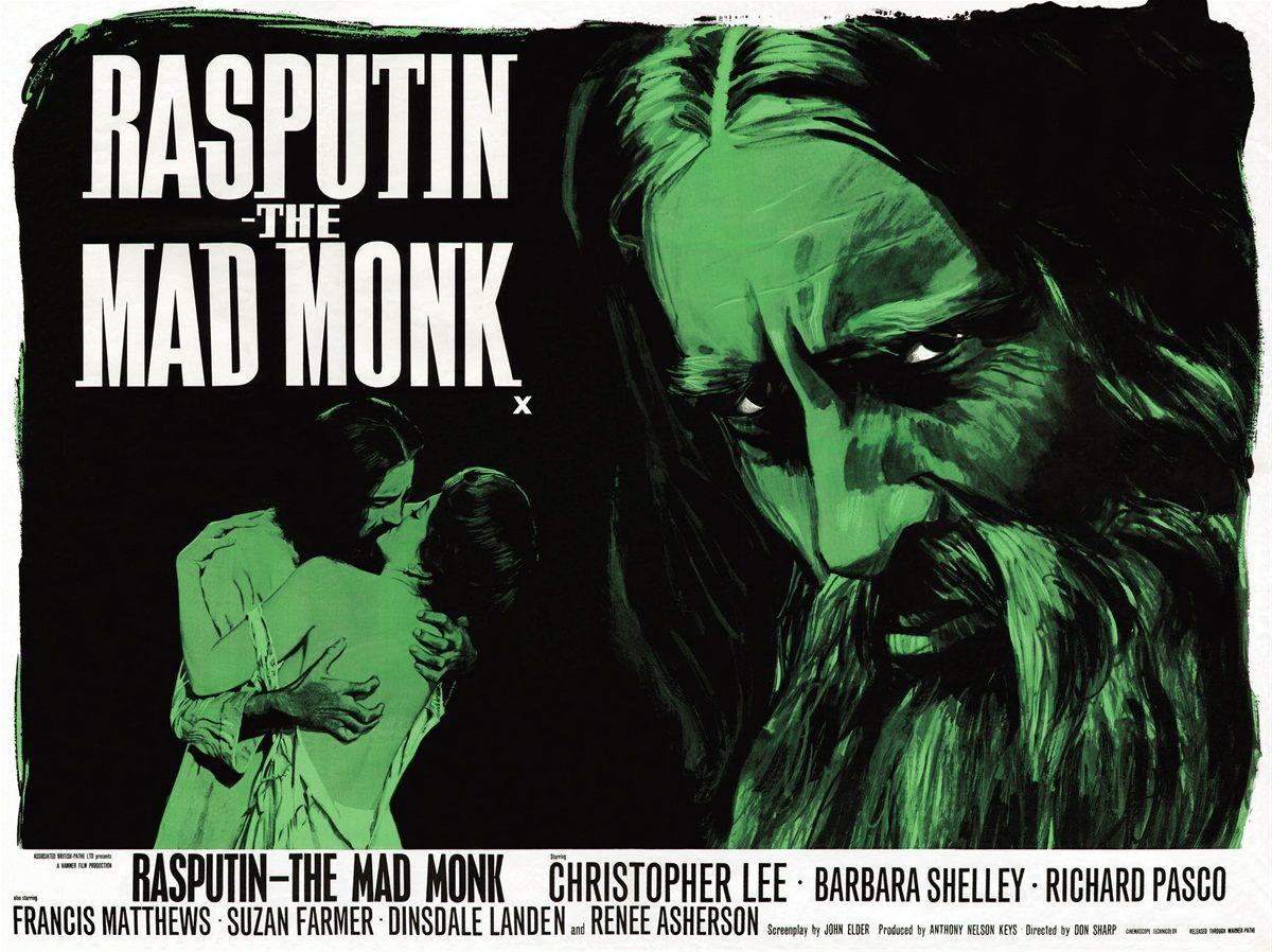Rasputin the Mad Monk | Hammer | Rasputin, Mad monk, Horror movie art