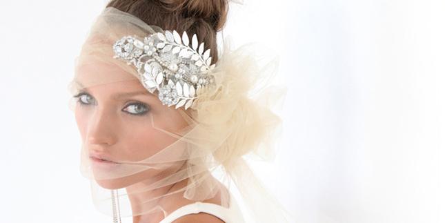 Breath-taking Bridal Accessories by Karen Wolf   Headpieces, Veil ...