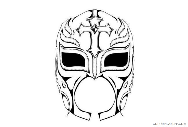 Wwe Coloring Pages Rey Mysterio Mask Coloring4free Coloring4free Com Wwe Coloring Pages Dog Coloring Page Horse Coloring Pages