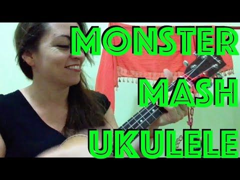 4 How To Play Monster Mash Ukulele Halloween Tutorial Lesson Chords