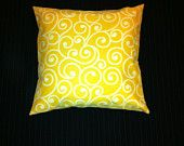 Lined pillow cover. Need to quickly revitalize an old pillow or dress up a new one? Simply slip this cover over it. It's even lined so colors won't show through. The daffodil fabric is made of 100% polyester and covers a 16 inch by 16 inch pillow (shown).