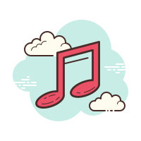 Apple music icons in Cloud style for graphic & UI