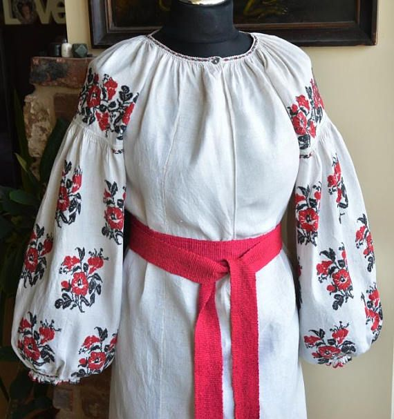 00b87ee3d29 LINEN HEMP Handmade Embroidery vyshyvanka cross stich traditional Ukrainian  clothing sorochka