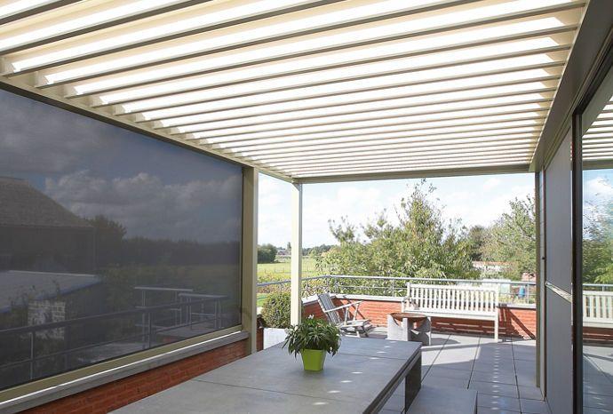 angebaute pergola selbsttragend aluminium. Black Bedroom Furniture Sets. Home Design Ideas