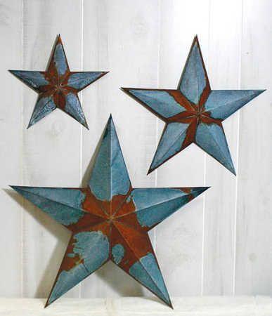 Weathered And Aged Look Tin Barn Star   Barn Stars   Primitive Decor
