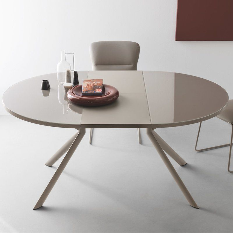 Giove Butterfly Leaf Dining Table With Images Round Extendable