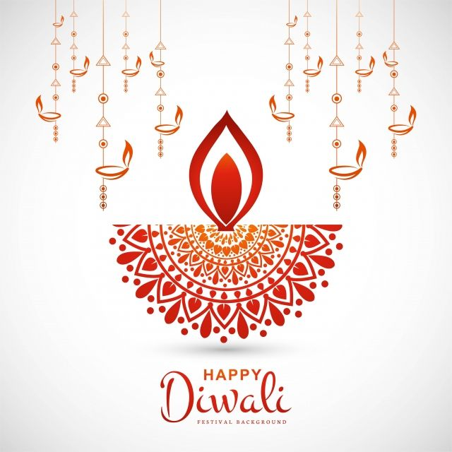 Creative Happy Diwali Greeting Card Diya Background, Abstract, Light, Diwali PNG and Vector with Transparent Background for Free Download