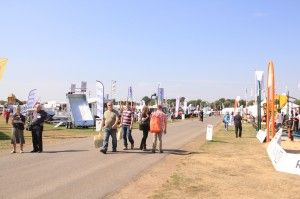 The heatwave was on for SALTEX 2013 sports and amenities exhibit.