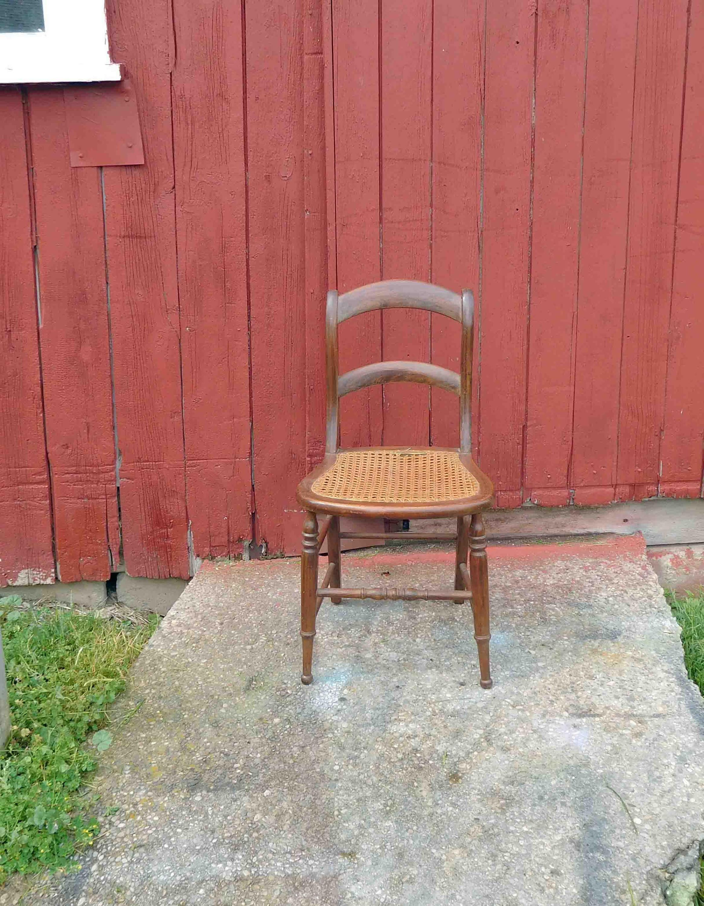 Antique Wood Chair Cane Chair Dining Chair Accent Chair Vintage By