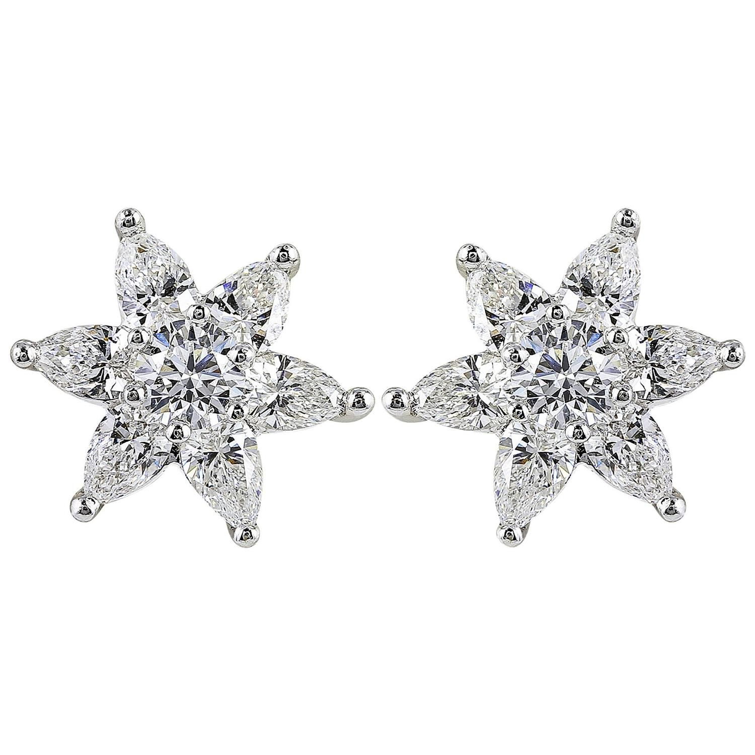 of silver glass products roman star earrings and made shaped