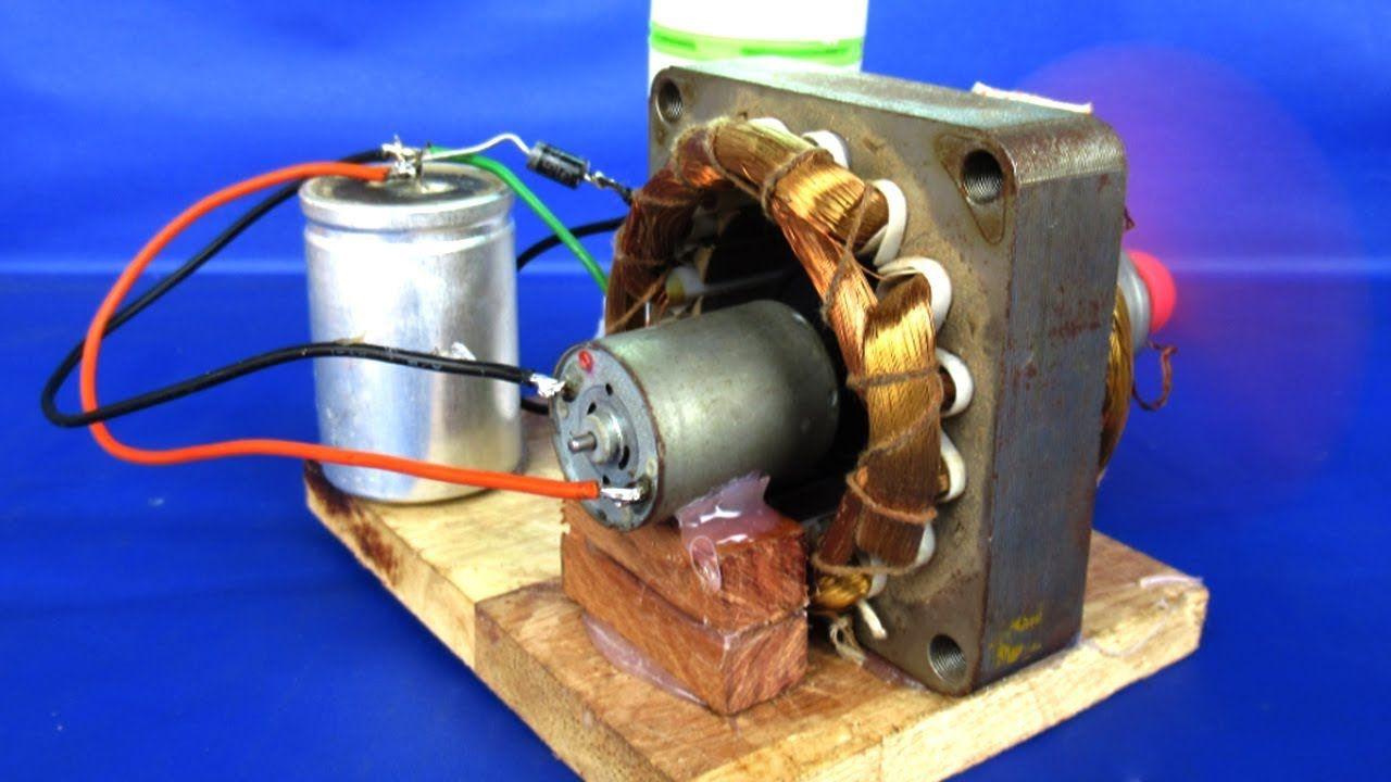 New Free Energy Electric Dc Motor Generator 220v Ac To 12v Dc Diy Expe Free Energy Free Energy Projects Free Energy Generator