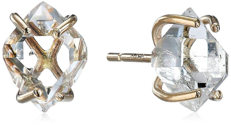 Amazon.com: Melissa Joy Manning New Elements 14k Gold and Herkimer Diamond Earrings: Clothing