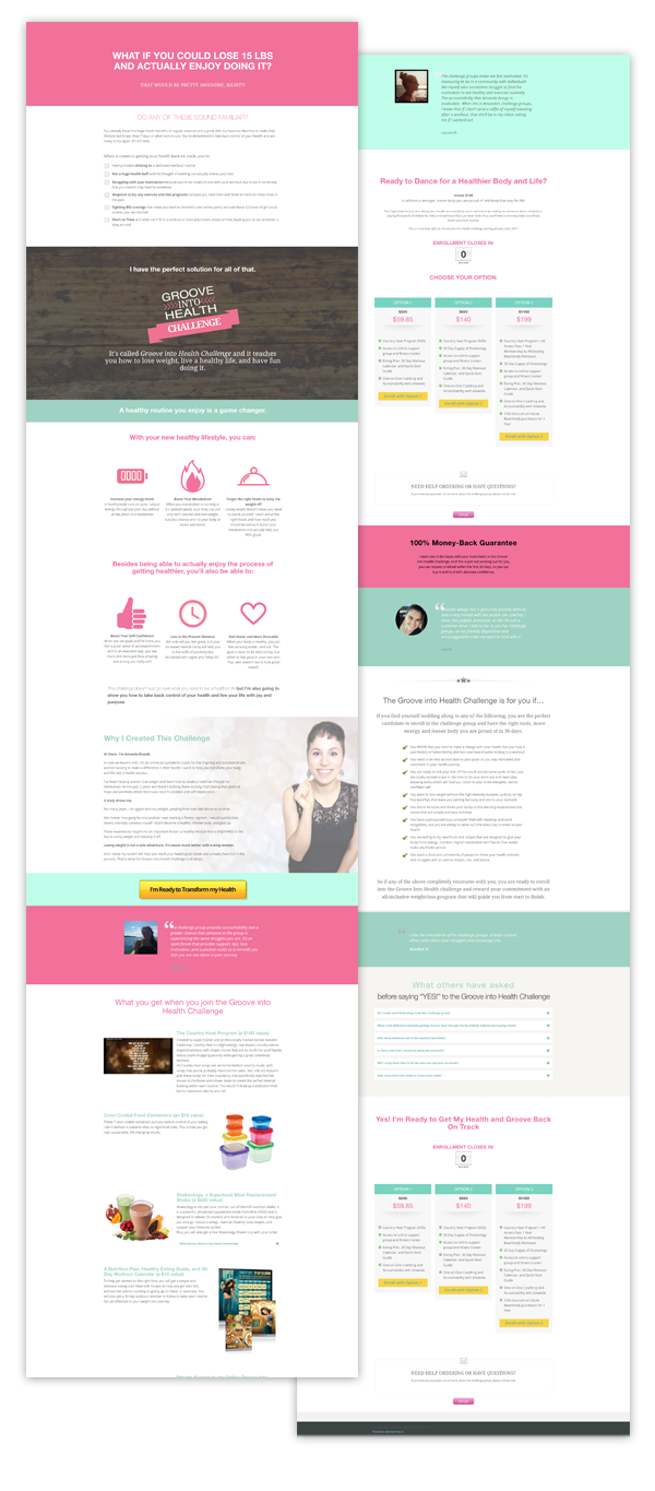 Launch Showcase For Irresistible Sales Pages Amanda Genther Sales Funnel Design Web Design Website Inspiration