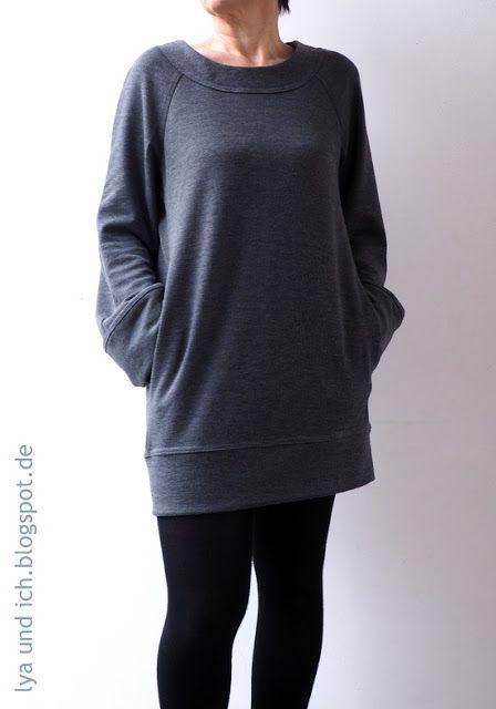 Pullover-Kleid Bea mit Raglanärmeln (aus la maison victor 1/2016 ...