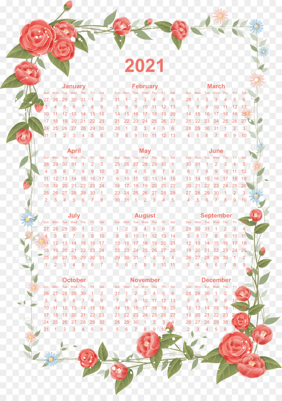 Awesome 2020 Yearly Calendar Illustrations - Printable ...