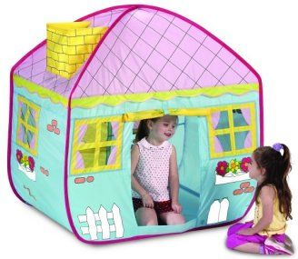 Country cottage playhouse kids girls pop up childrens play tent toy  sc 1 st  Pinterest : pop up indoor tent - memphite.com