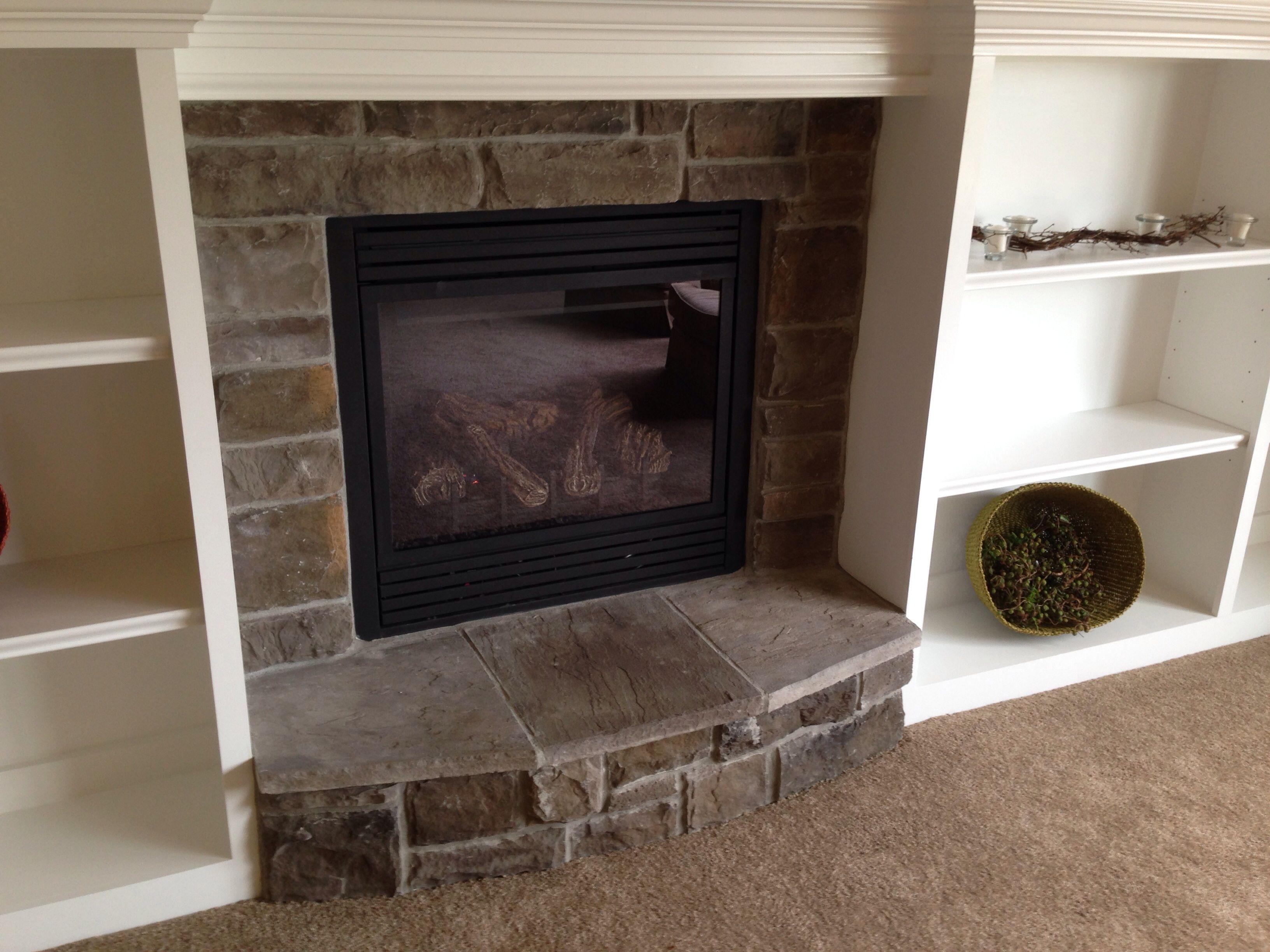 Stoned Fireplace With Hearth Arkansas Ashlar Jn Stone