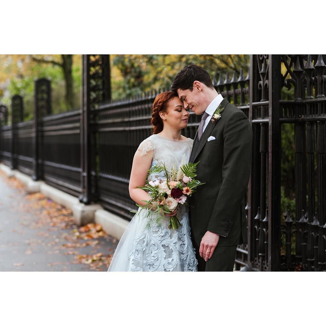Becca & Ollie from their London wedding on Saturday