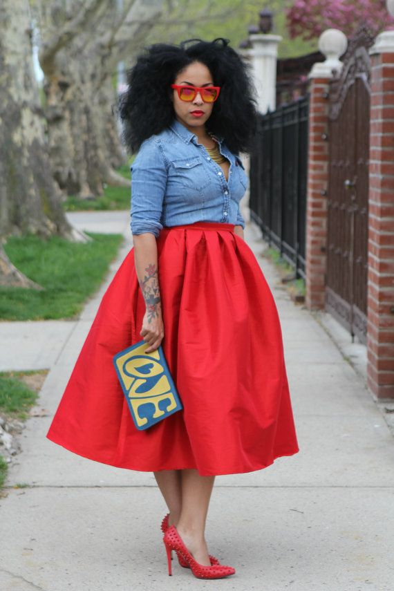 Wide Voluminous Midi Skirt LOVE Ready to ship by tribalgroove | My ...