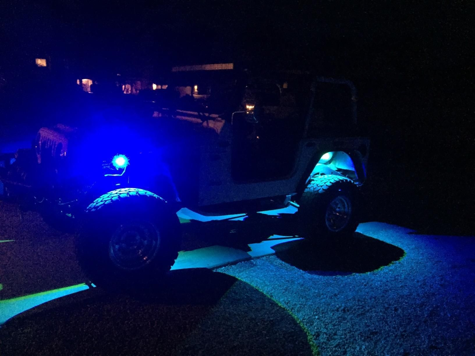 10 Pods LED RGB Rock Light Kit Bluetooth Fit for Truck OffRoad Jeep Wrangler