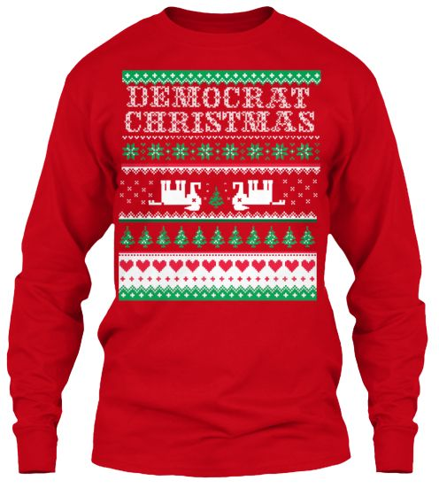 democrat ugly christmas sweater teespring