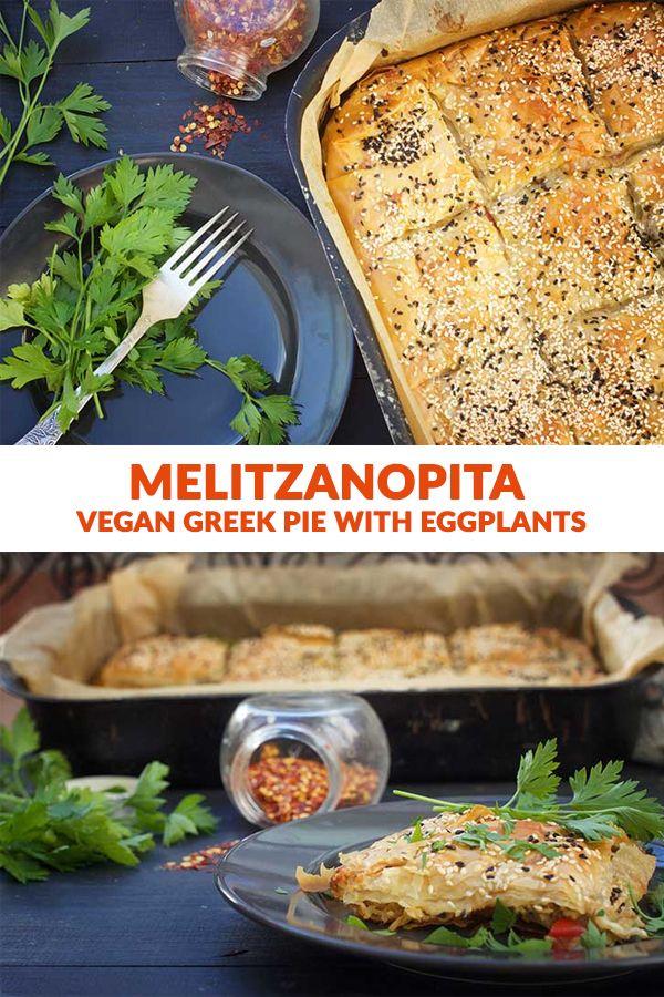 Vegan Greek Pie With Eggplants Melitzanopita