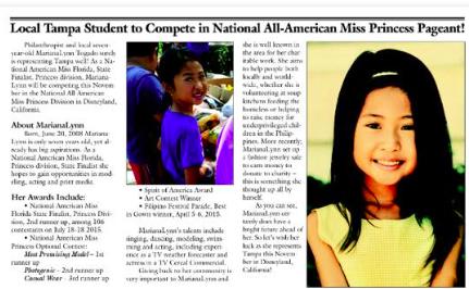 NAM Girl in The News! #NAM #NationalAmericanMiss