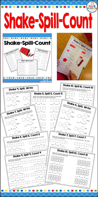 Shake Spill Count Number Fluency To Ten Math Centers Kindergarten Kindergarten Math Numbers Numbers Kindergarten