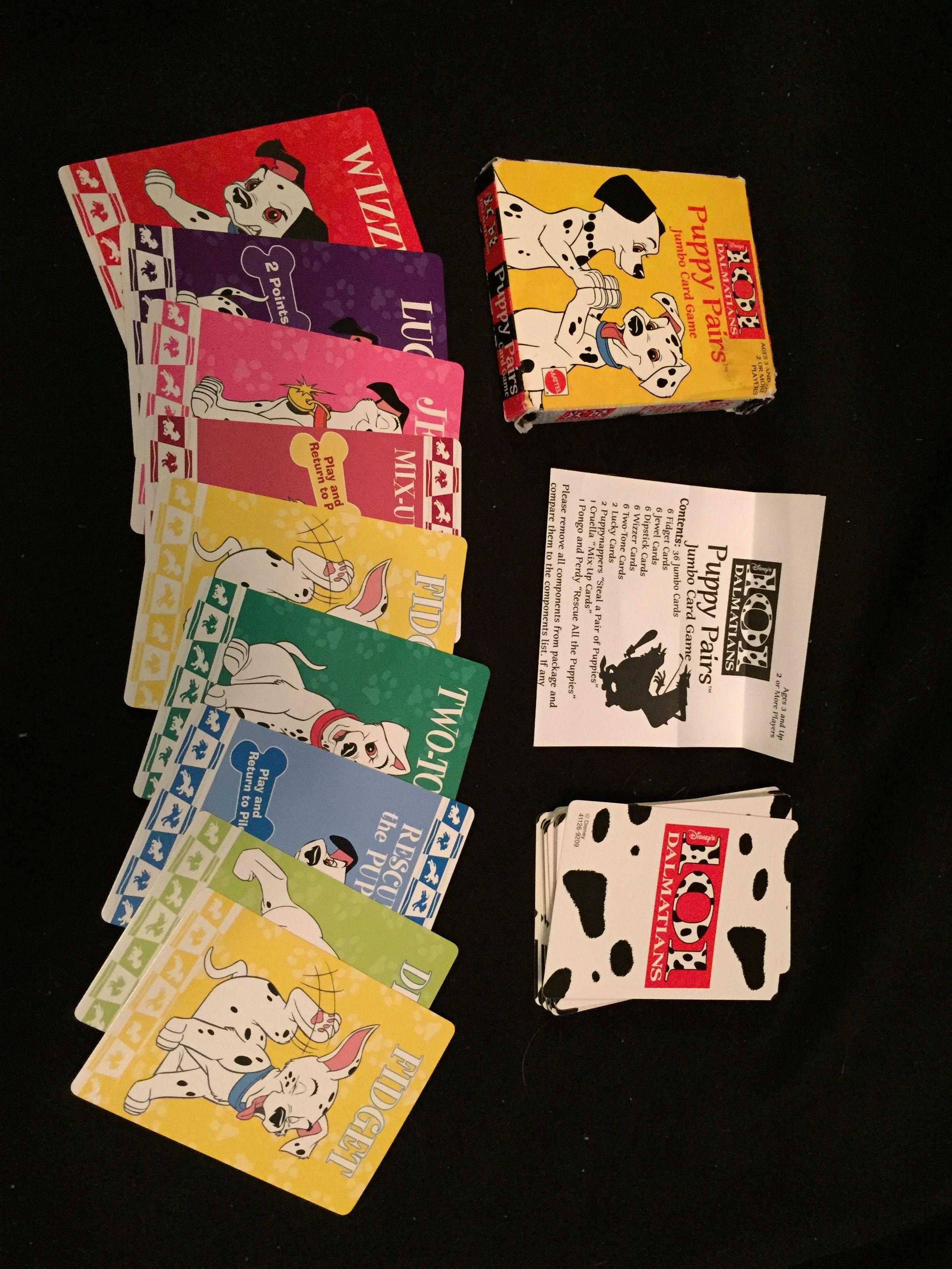 Disney 101 Dalmatians Puppy Pairs Jumbo Card Game Dalmatian