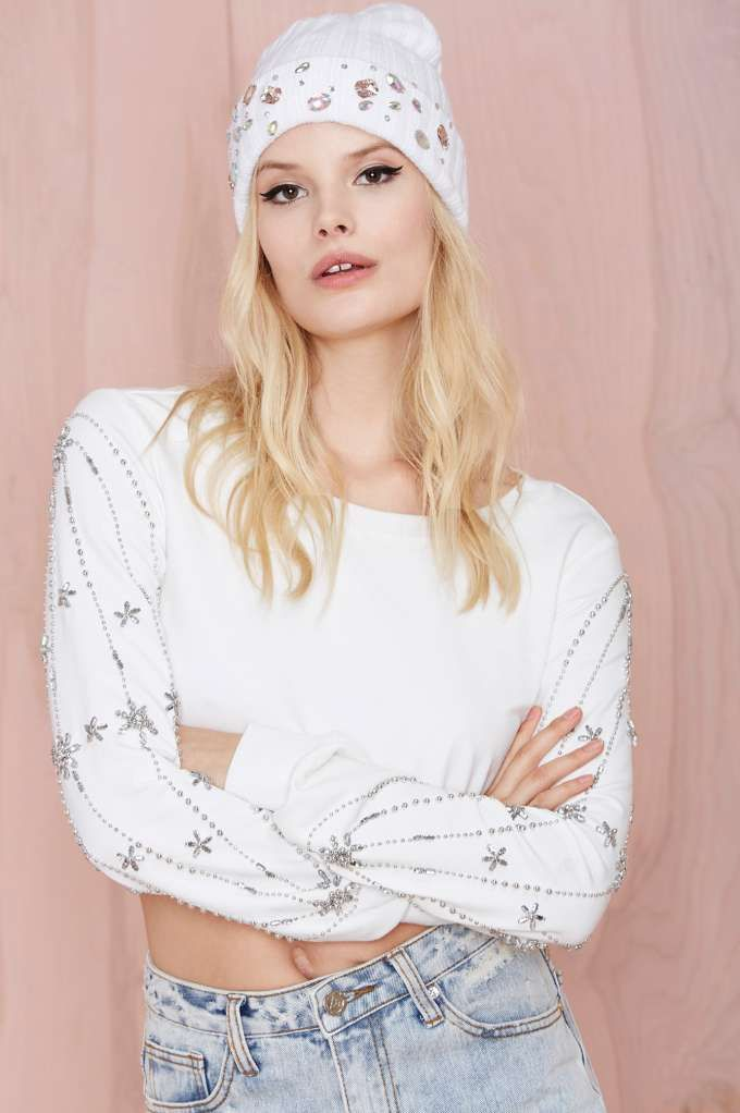 Need for Bead Crop Sweatshirt - You, Me and the Moon