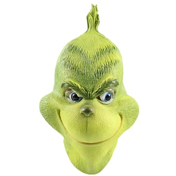 Grinch Mask Costume Christmas Accessory Deluxe Full Head