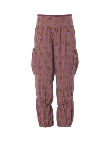 Lovely, printed corduroy trousers - Purple