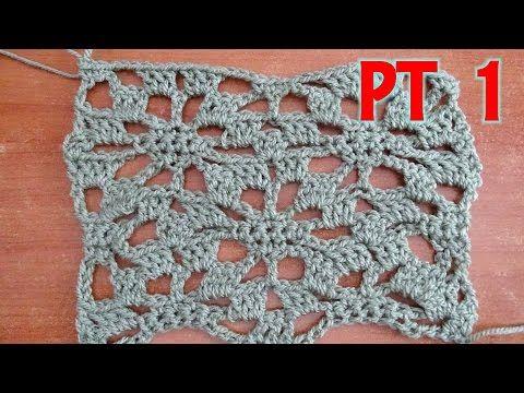 Lacy Star Part 1 Crochet Tutorial Youtube