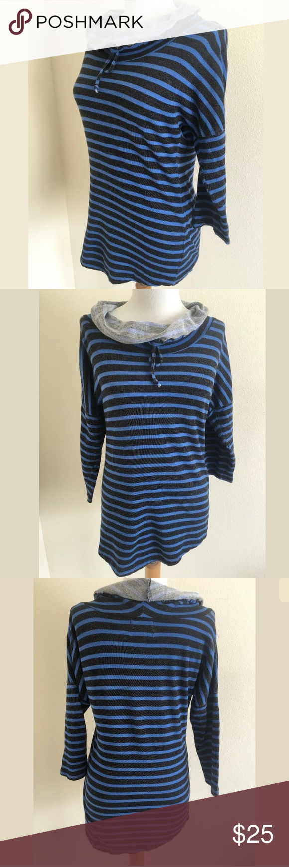 Cynthia Rowley sweatshirt SKU: SD14346  Length Shoulder To Hem: 27 Bust: 47 Waist: 34 Fabric Content: 100% Cotton We're not sure if this is intentional, but it's a bit longer on the right side in front, and on the left side in back. Cynthia Rowley Tops Sweatshirts & Hoodies