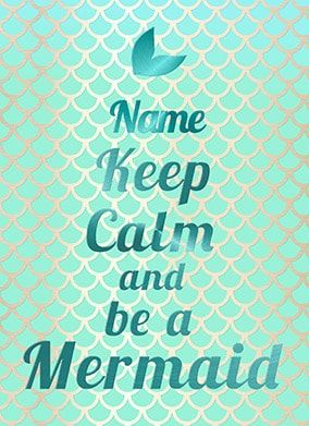 Keep calm be a mermaid birthday card funky pigeon magical birthday cards for her make it special bookmarktalkfo Image collections