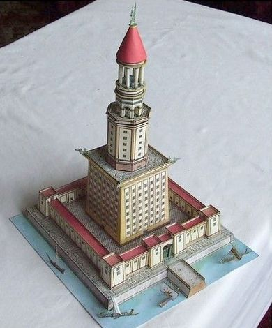This building paper model is the lighthouse of alexandria this building paper model is the lighthouse of alexandria sometimes called the pharos of alexandria pronofoot35fo Choice Image