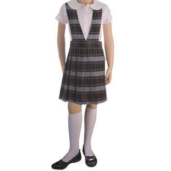 French Toast Girls V-Neck Jumper School Uniform Dress