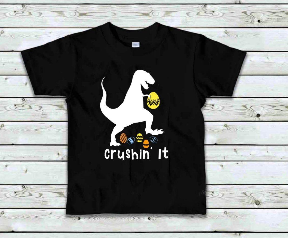 T-Rex Bunny Easter Egg Funny Gift for Easter Toddler//Infant Kids T-Shirt