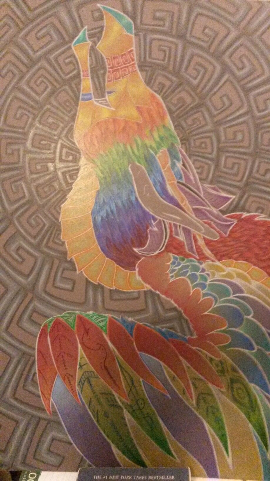 A drawing of an Aztec God for my art class last year