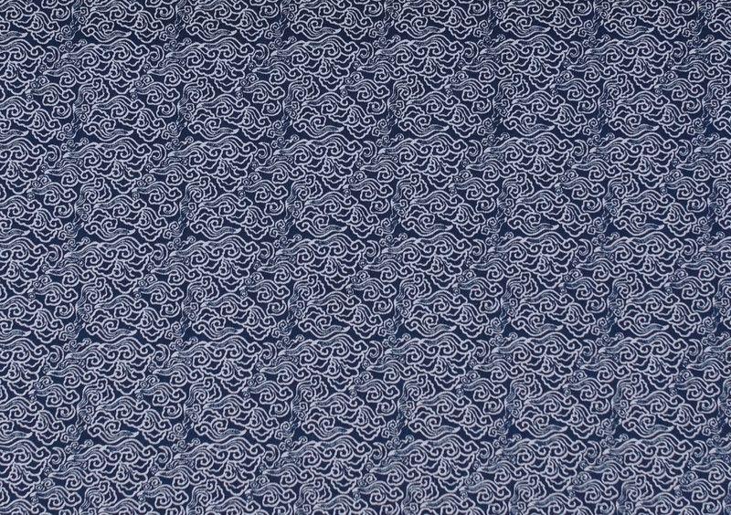 Kinderstoffe - 1265 Baumwolle Blüten Blau Weiß - ein Designerstück von pretty-child bei DaWanda