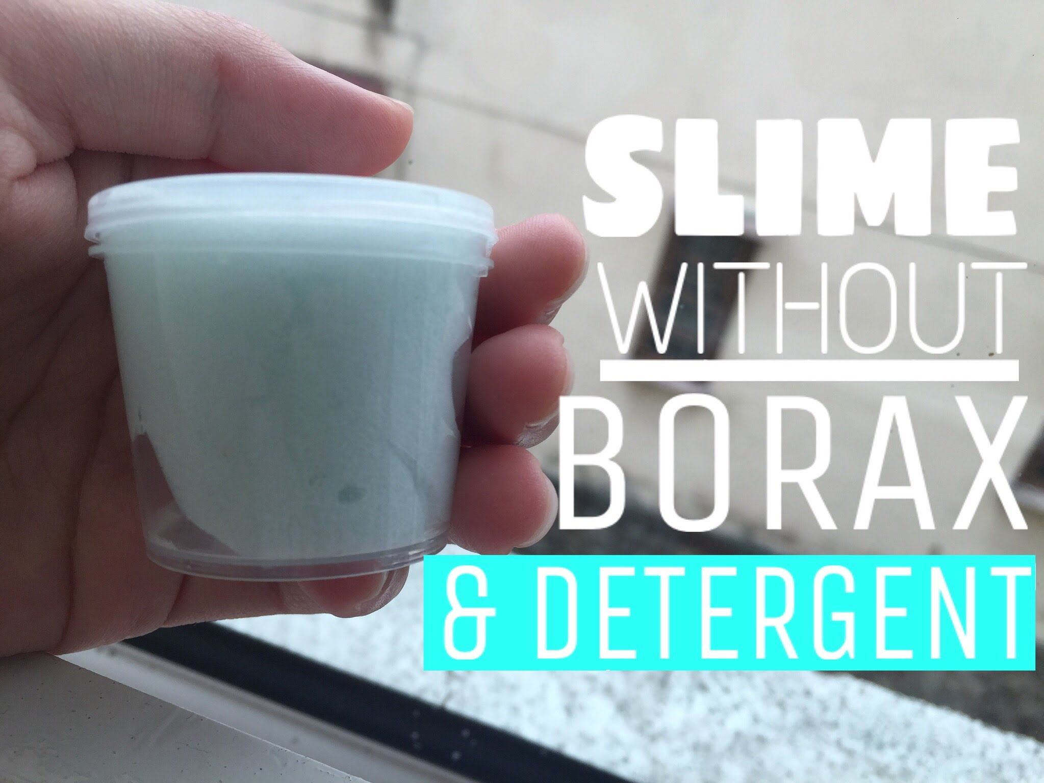 Diy: Slime (without Borax, Detergent Or Liquid Starch)