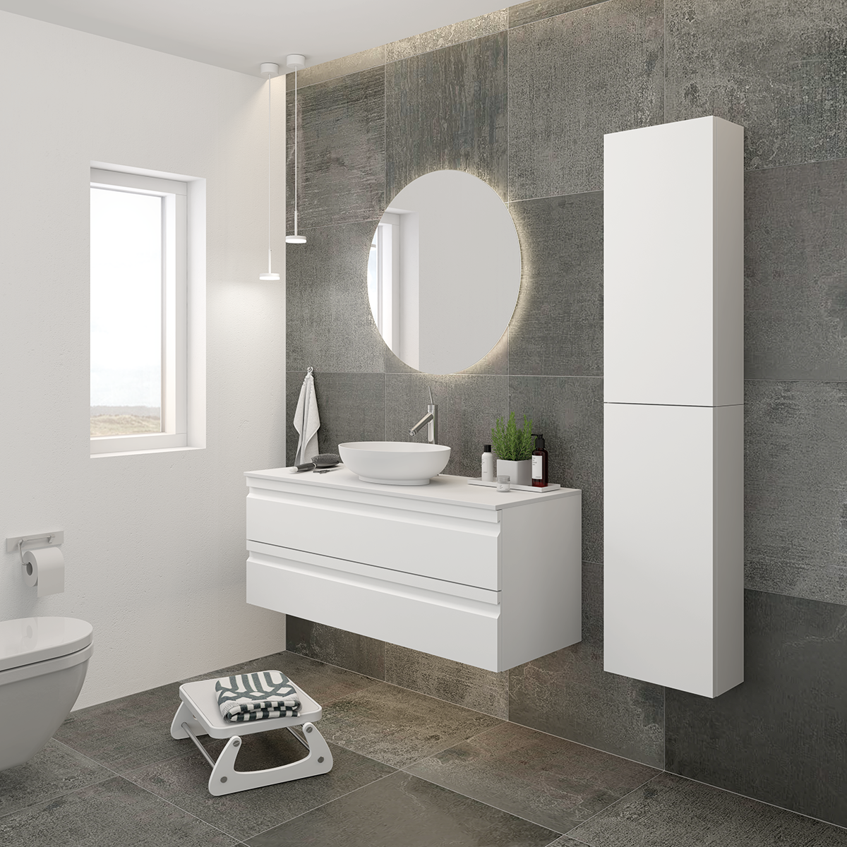 Create a lovely atmosphere in your bathroom with the oval, romantic ...