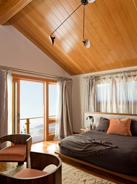 An amazing view and the #hardwood on the ceiling really warms the room up!