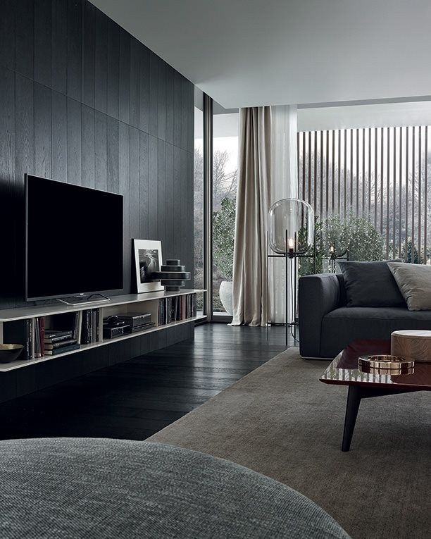Download the catalogue and request prices of skip by poliform modular wooden tv wall system
